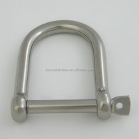 Stainless steel 316 wide D Shackle