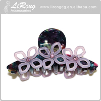 Fashion fancy crystal hair claw Princess clips