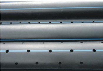 polypropylene drainage pipe underground HDPE perforated pipe