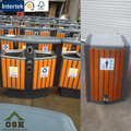 eco friendly park dustbin wpc dustbin wood plastic composite