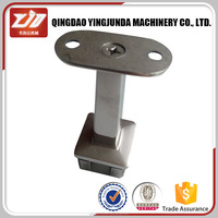adjustable square tube support stainless steel handrail bracket supplier