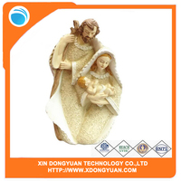 Jesus Mary Joseph Nativity Christmas Polyresin Figure Figurine