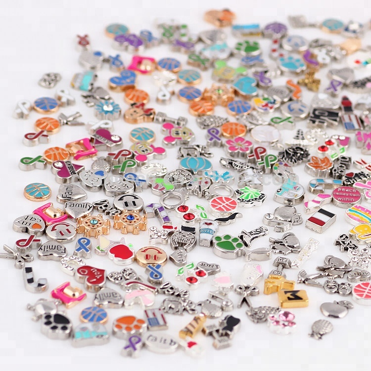 Cheapest mixed order small alloy locket <strong>charms</strong> for diy floating locket pendant