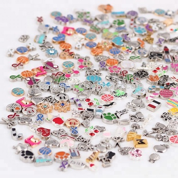 Cheapest mixed order small alloy locket charms for diy floating locket pendant