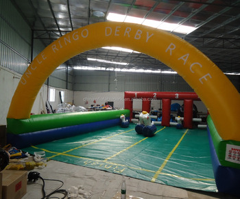 Inflatable Sport Games Pony Horses racing track inflatable sports field