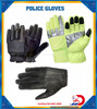 Back padding extra proctection real leather police gloves