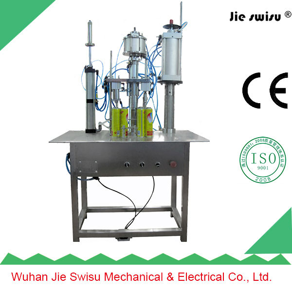 450ml iso9001 tyre sealant and inflatror aerosol filling machine