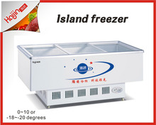 Skin cooling island cabinets with cheap price for clients
