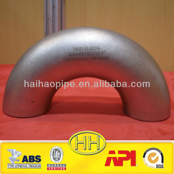 stainless steel ss304 butt weld 30/60 degree elbow