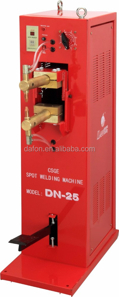 DN-25 copper transformer pedal model 3mm steel/iron plate single/three phase spot welding machine