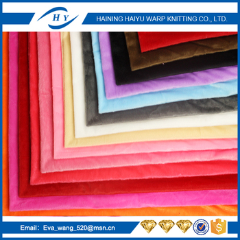 100% polyester warp knitting fabric for toys