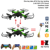 Automatic return 2.4G wifi fpv rc drone helicopter in long distance with LCD and camera