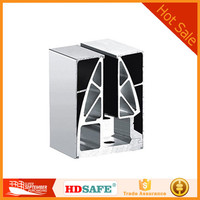 stainless steel handrail post glass clamp with tube and tempered glass