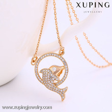 New arrival 18k gold color fish gold pendant necklace