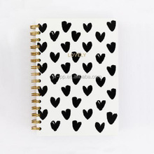 Customized hearts A5 spiral notebook from alibaba gold supplier