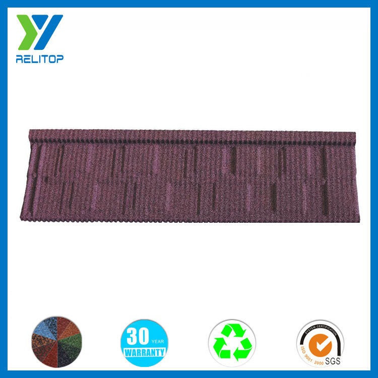 High quality stone coated type steel shingle roof tile
