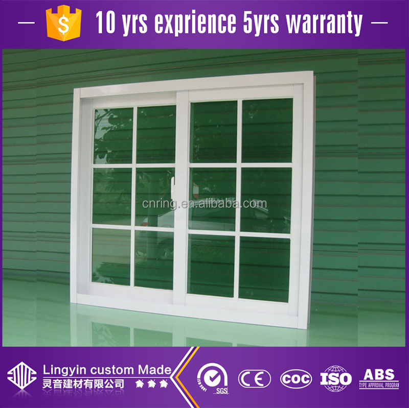 india aluminum framed double glazed sliding windows with grill designfor residential