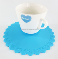 High Quality Round Silicone Coaster Rose Circle Heat Resistant Cup Mat Pad Waterproof Tea Cup Mat