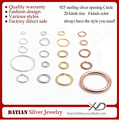 XD P05003 0.6x4mm Sterling Silver Open Jump Ring 925 Silver Jewelry Component