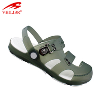 New style summer clear PVC clogs beach jelly shoes men sandals