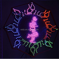 Programmable led light board ip65 outdoor led digital sign board design samples