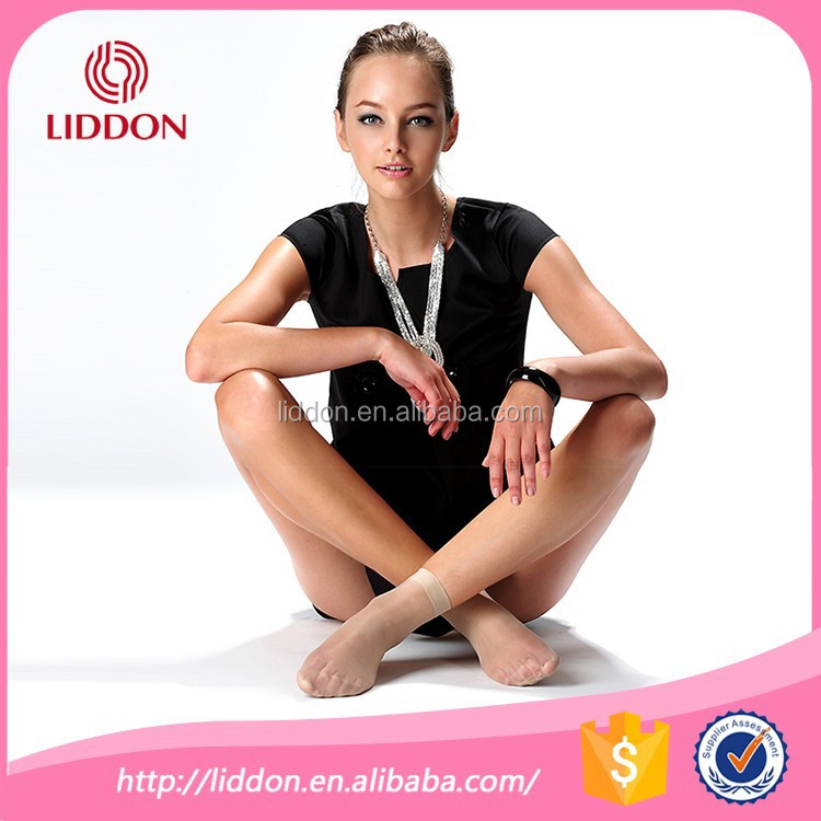 Lady silk felling invisible freshcolor transparent ankle nylon socks