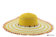 Women young lady wholesale wide large brim cool sun beach summer paper braid floppy straw hat