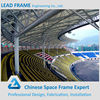 Stable and durable stadium bleacher arch truss roof