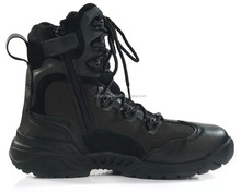 2015 new design 9 inch geniune leather black color US mens black military boots for man