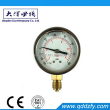 Liquid filling hydraulic pressure gauge for measuring gas pressure
