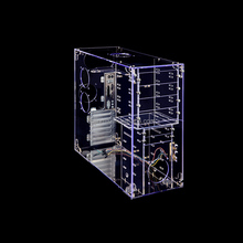 custom design clear acrylic pc case