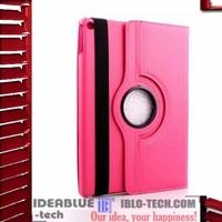 360 Degree rotating leather stand cover for ipad case