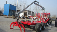 Factory Price !! 1 ton - 12 ton Log Skidder,log trailer crane for tractor,timber trailer grapple with CE certificate