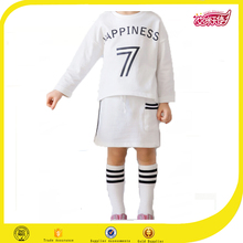 White sports girl dress kids dress kids fashion sport sports jersey new model