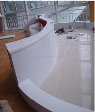 Commercial office furniture modern front desk design,acrylic solid surface Hotel reception desk