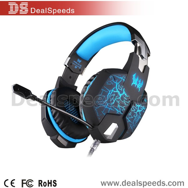 EACH G1100 Vibration Function Professional Gaming Bosely Headphone Games Headset with Mic/Led