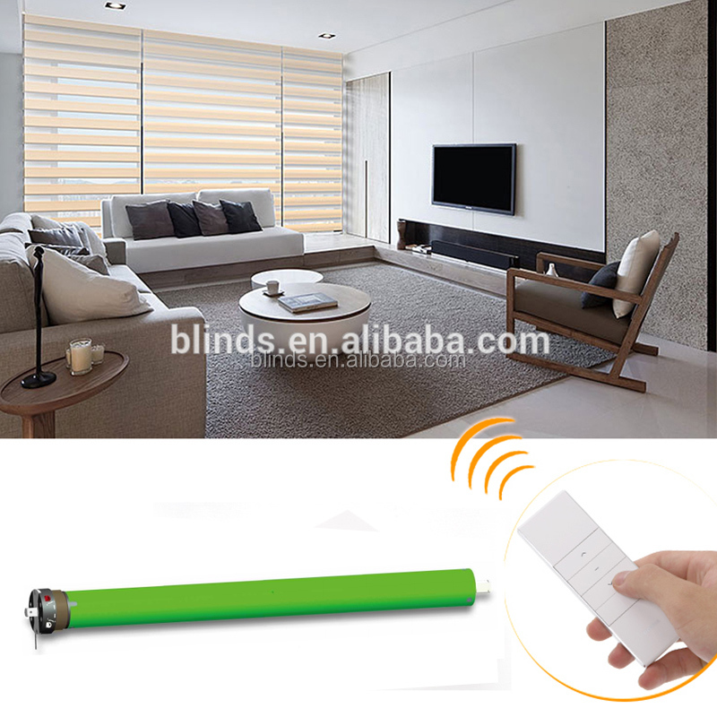 100% Blackout One Way Vision Two layers Motor Zebra Blind, Outdoor Battery Operation Zebra Roller Blinds