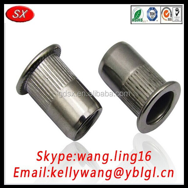 Dongguan manufacturer best quality machine electricity rivet nut or blind insert nuts getting good market in North America