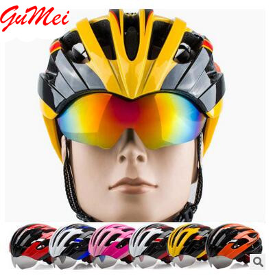 Adult Safety Protect Head MTB Mountain Bike Cycling Rode Bike Riding Bicycle Helmet With Glasses