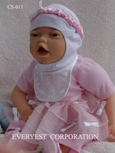 8 inch baby doll lovely real live silicone reborn baby dolls molds/kit baby reborn/silicon doll lifelike