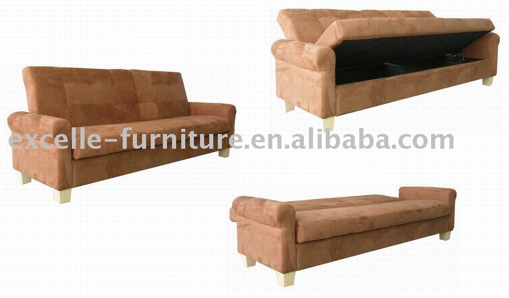 Storage futon sofa bed, hidden bed
