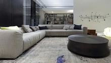 Fashion design sectional fabric floor sofa