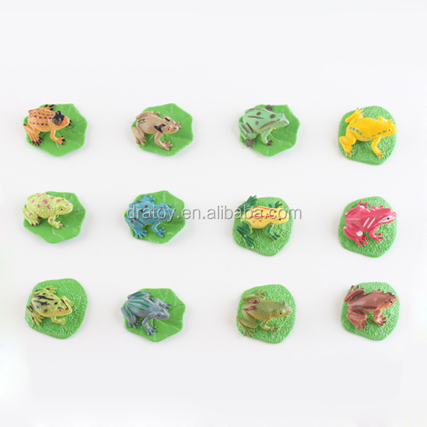 Hot sale baby toy animal figurine rubber frogs factory price