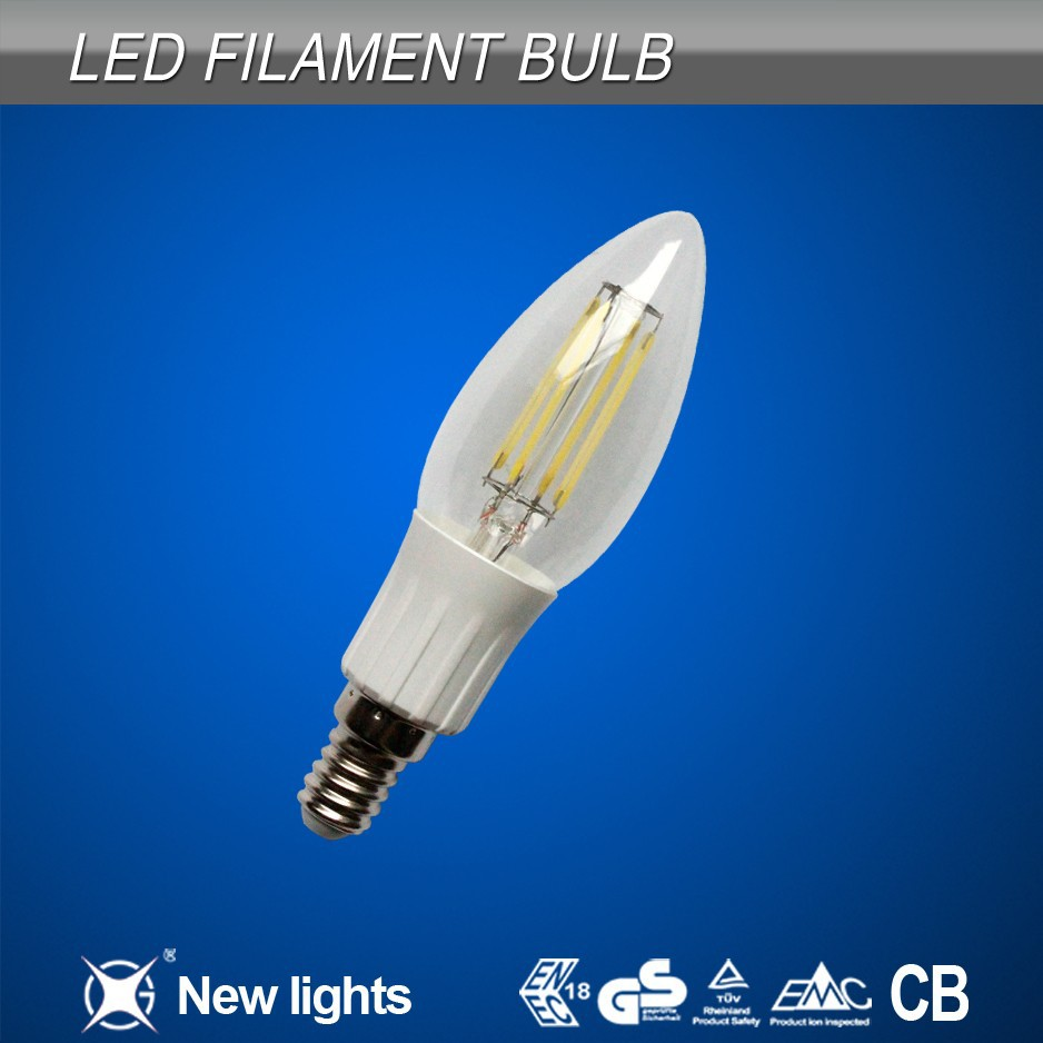 2014 Newest Products 4w Led Light Bulb E27 E26 B22 Custom Filament Bulb