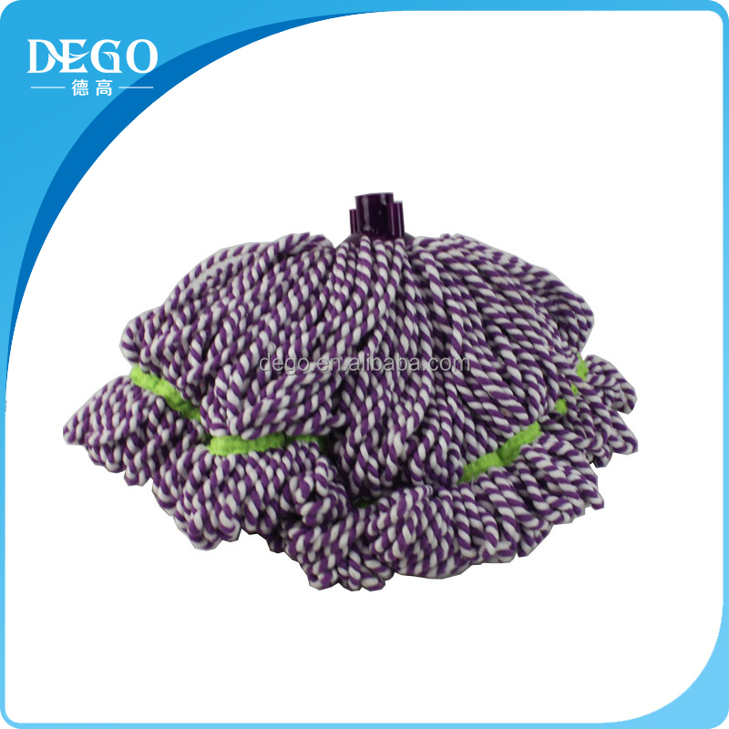 DEGO cangnan factory 150g cotton material circular mop with plastic screw head