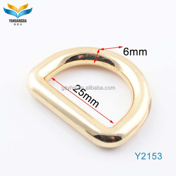 factory wholesale high quantity fashion custom logo gold metal bag hardware 1 inch d ring for handbags