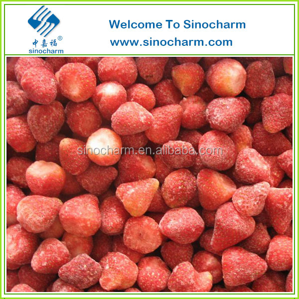 Chinese Top Quality IQF Fruits Frozen Strawberry Bulk