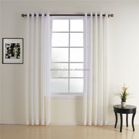 China supplier solid grommets living room organza theatre curtain