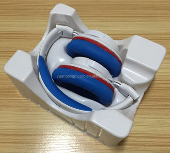 custom PVC plastic blister trayfor earphone