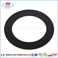 Good quality custom nbr/epdm/silicone/viton round rubber manhole cover gasket